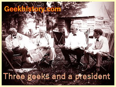 Three geeks and a president